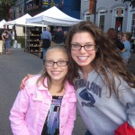 Two girls at Selinsgrove Market Street Festival PA