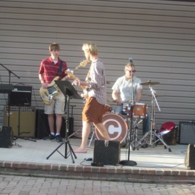 Young band at Selinsgrove, PA commons