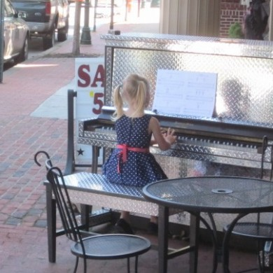 Little Girl playing Metal Piano Palooza 2014 Selinsgrove, PA