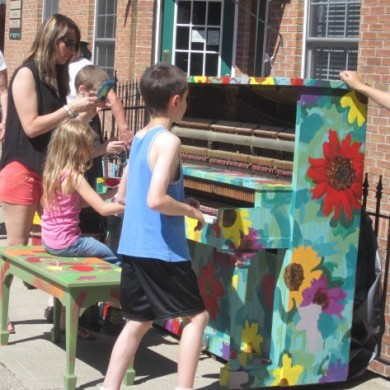 Little Girl playing flower Piano Palooza 2014 Selinsgrove, PA