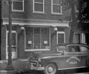 Now home to Miller Insurance, Keystone Group, and the Zeiders Agency, this building was originally the residence of merchant Albert Marburger in selinsgrove pa. Image circa 1953