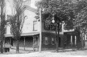 Now owned by Laird Gemberling (Waddell & Reed), this building is likely the oldest in the downtown area, with construction beginning about 1812.