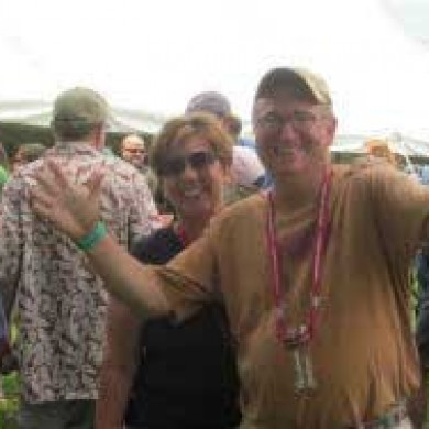 Two people smiling and enjoying themselves Brew fest 2014 Selinsgrove, PA