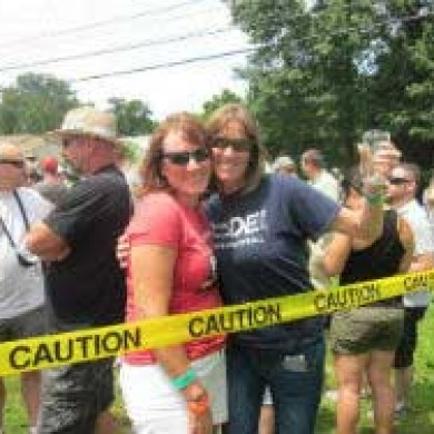 Close up group shot two women Selinsgrove, PA brew fest 2014