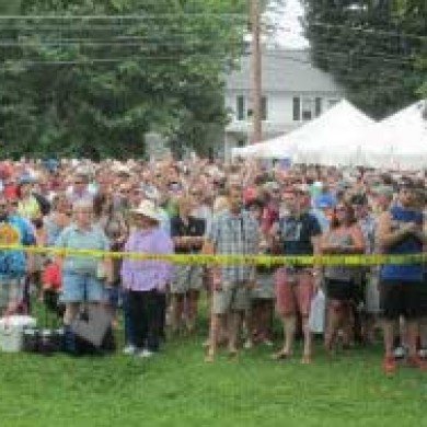 Selinsgrove, PA Brew Fest 2014 Caution tape outide crowded