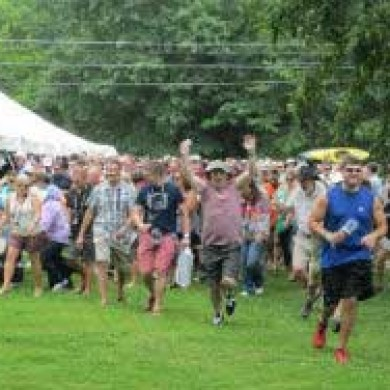 Selinsgrove, PA Brew fest 2014 outside shot crowded