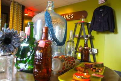 glassware items on display in a Selinsgrove store