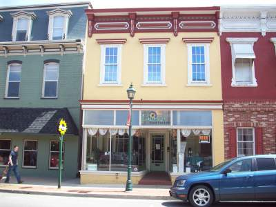 store front in downtown Selinsgrove PA