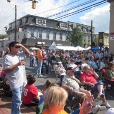 people watching selinsgrove, PA Commons tents audience excitement